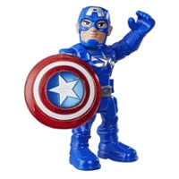 Playskool Heroes Marvel Super Hero Adventures Mega Mighties - Figurine Captain America de 12,5 cm avec bouclier