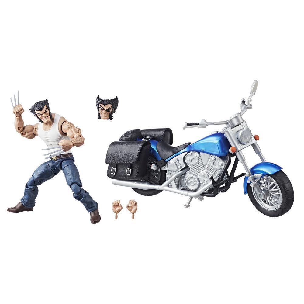 Série Marvel Legends - Figurine Wolverine de 15 cm avec moto