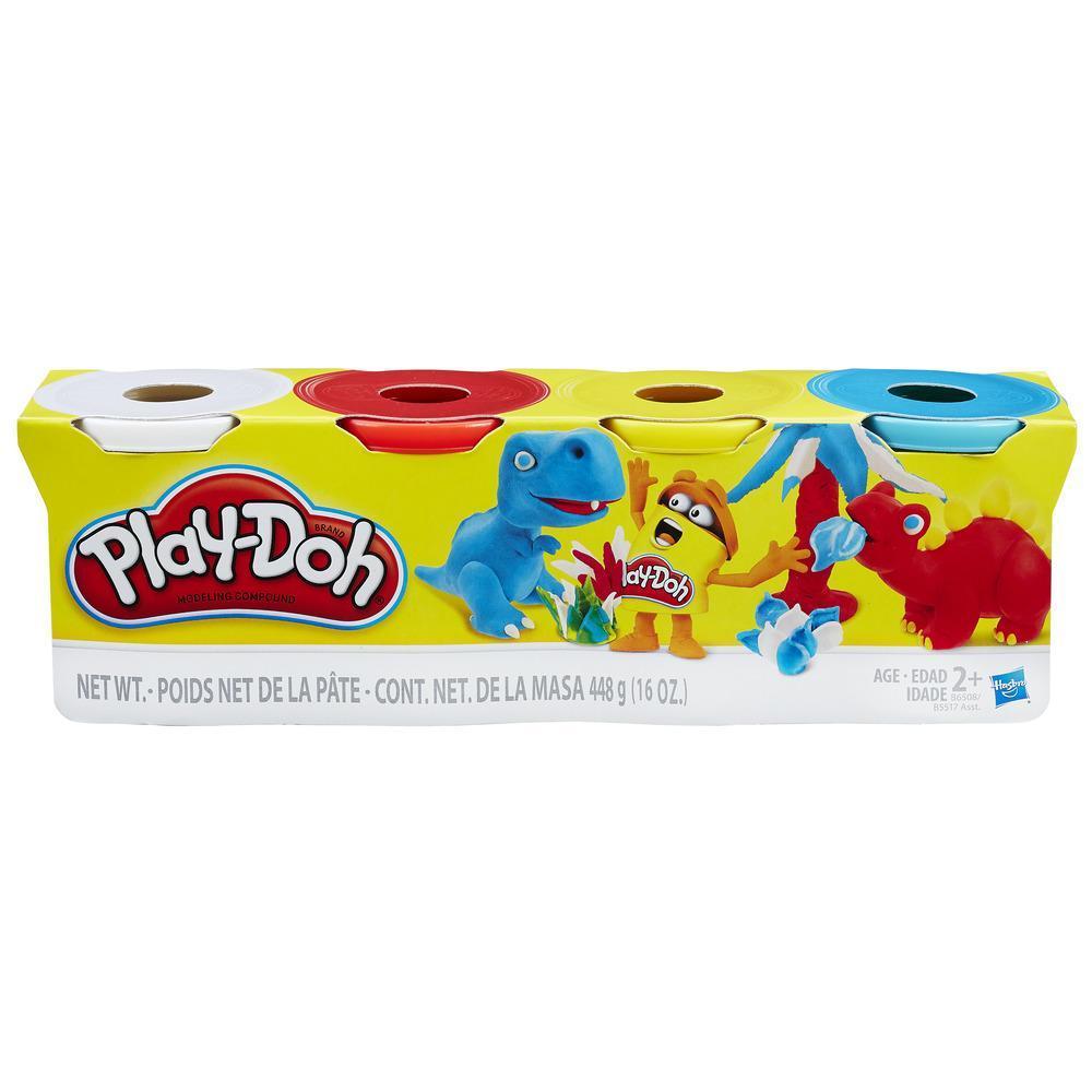Play-Doh - Ensemble de 4pots Play-Doh de couleurs classiques