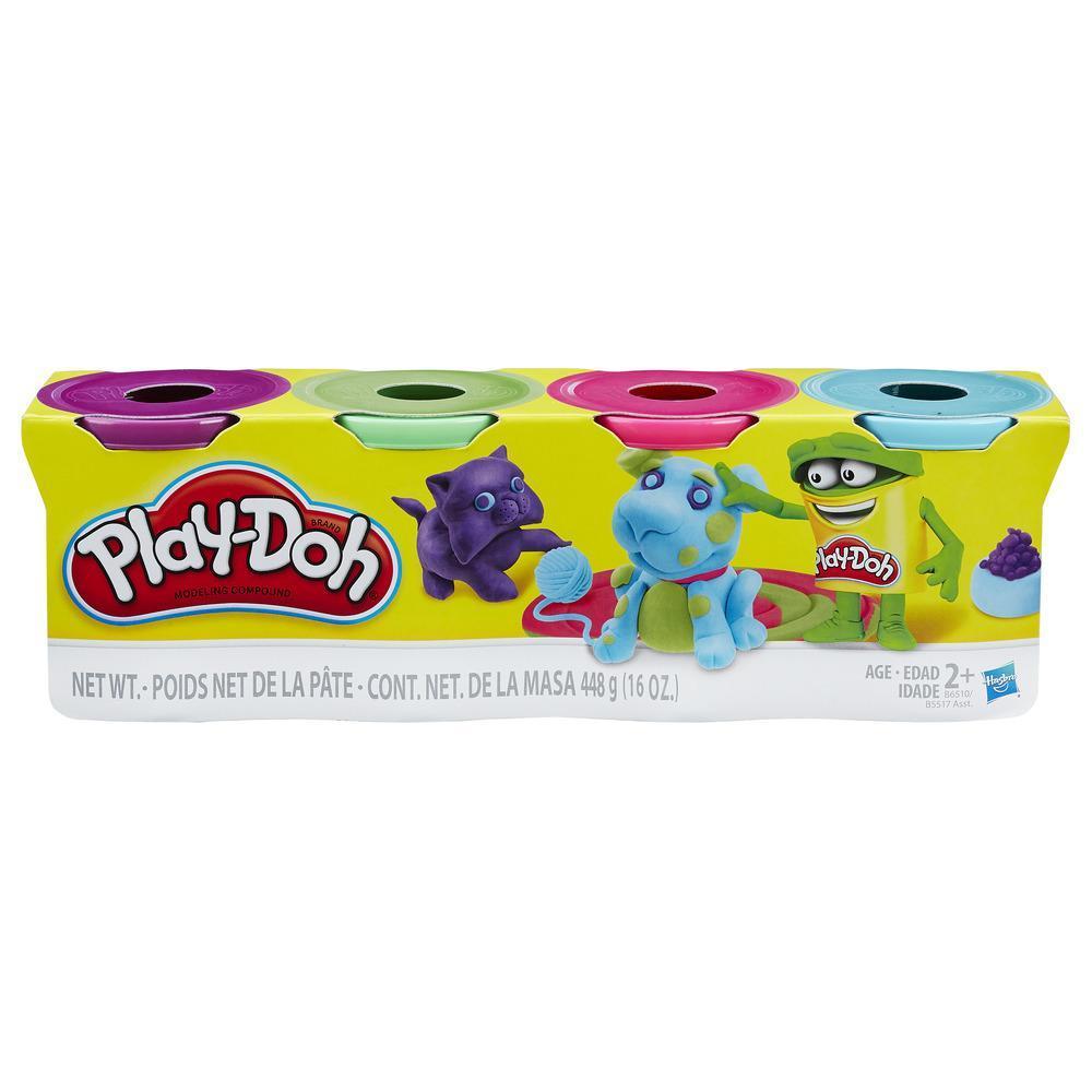 Play-Doh - Ensemble de 4pots Play-Doh de couleurs vives