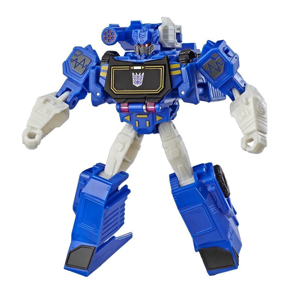 Transformers Bumblebee Cyberverse Adventures, figurine Soundwave de 13,7 cm, classe guerrier