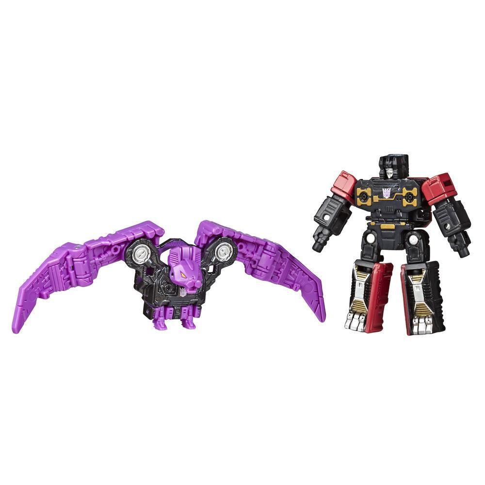 Jouets Transformers Generations War for Cybertron: Siege, duo de figurines Micromaster Patrouille d'espionnage WFC-S46 Soundwave (2e unité), taille de 3,5 cm