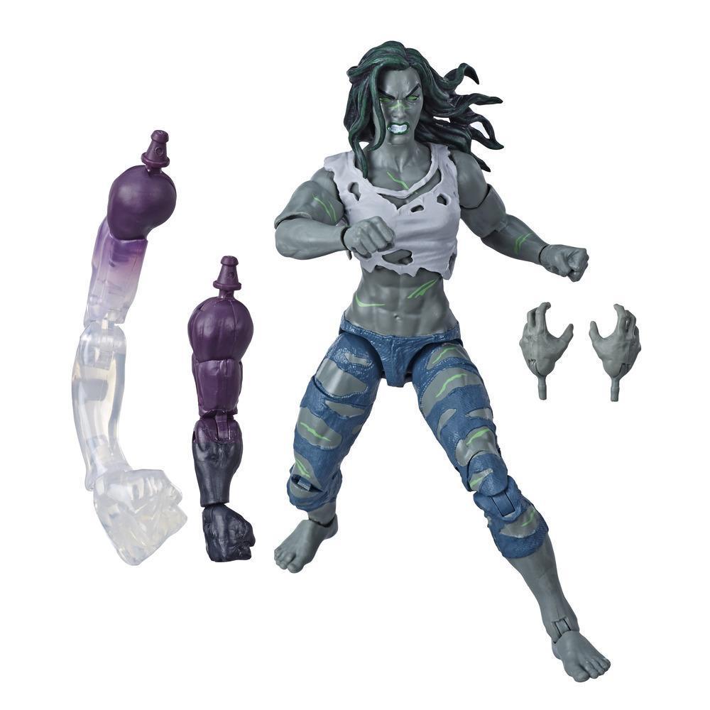 Hasbro Marvel Legends Series - Figurine Hulk de 15 cm à collectionner, 2 accessoires et 2 pièces Build-a-Figure
