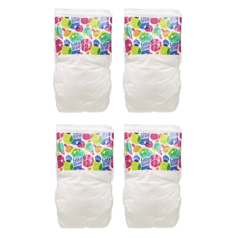 Baby Alive, couches de rechange pour poupée, inclut 4 couches, accessoires de jouet, pour enfants âgés de 3 ans et plus