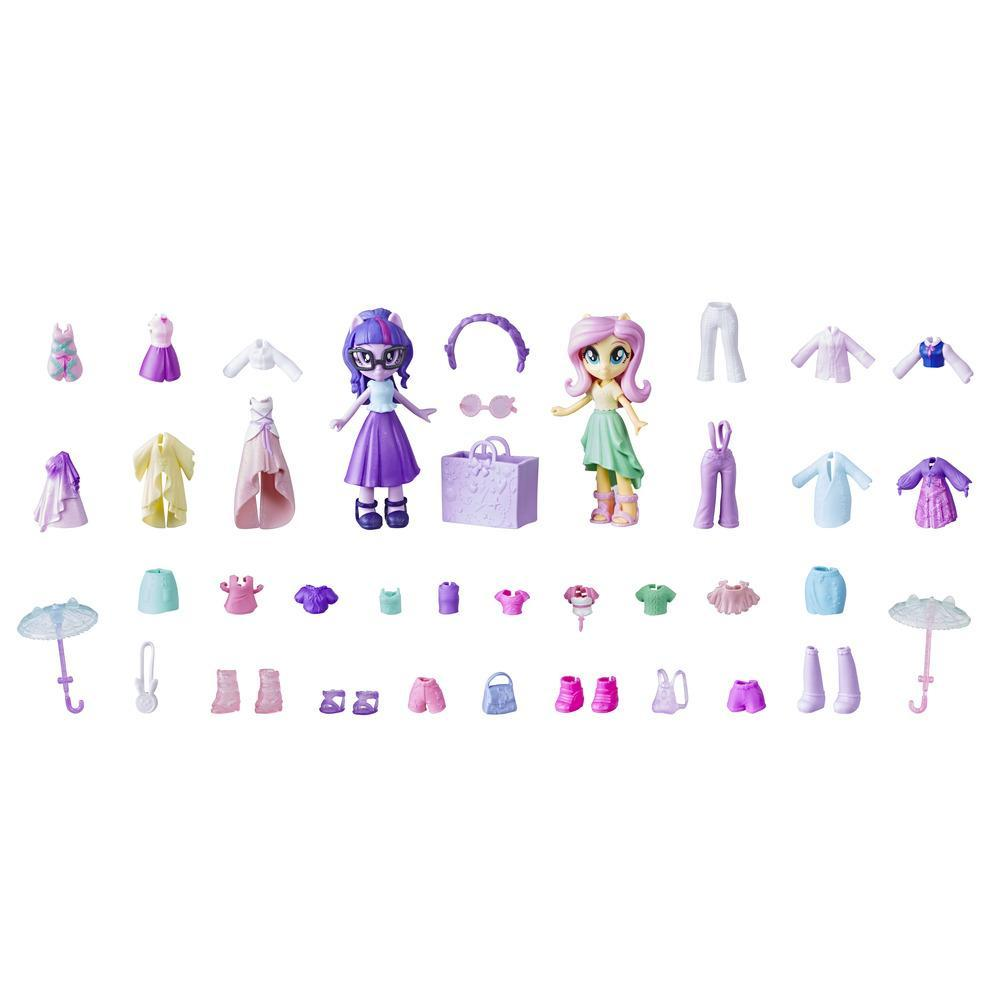 My Little Pony Equestria Girls, ensemble de mini-poupées Fluttershy et Twilight Sparkle de la collection Peloton stylé