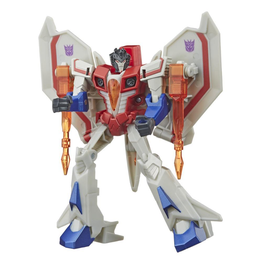 Transformers Bumblebee Cyberverse Adventures, figurine Starscream Action Attackers de 13,7 cm, classe Guerrier