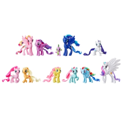 Jouet My Little Pony, Collection de 11 figurines Amis d'Equestria
