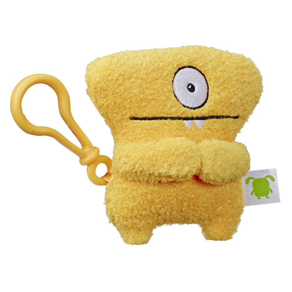 UglyDoll Wedgehead à emporter, jouet en peluche avec attache, 12,5 cm de long