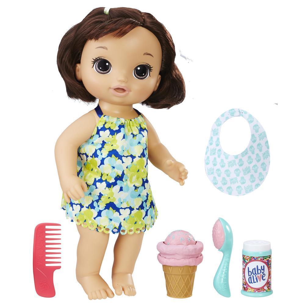 Baby Alive - Bébé cornet magique (brunette)