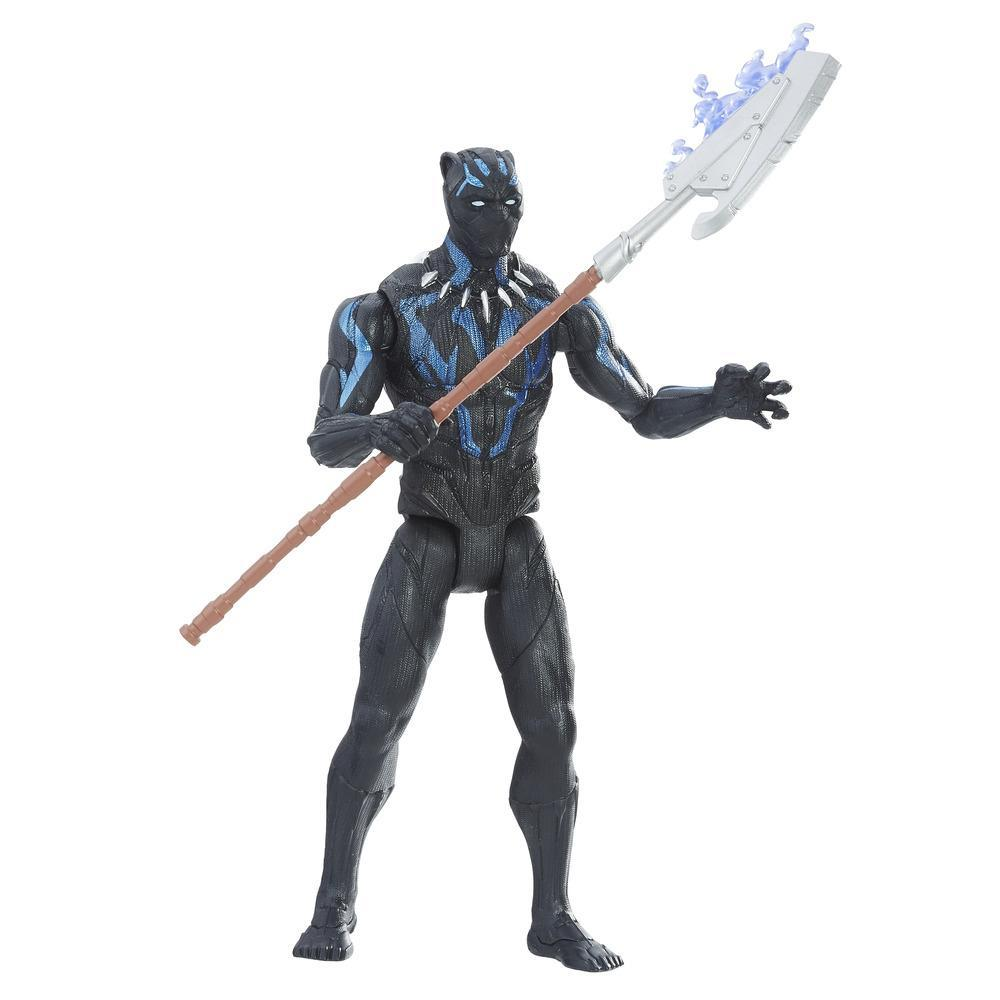 Marvel Black Panther - Figurine Black Panther en costume de vibranium de 15 cm