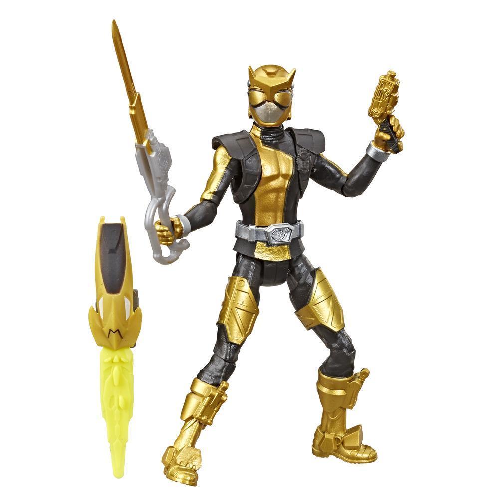 Power Rangers Beast Morphers - Figurine jouet de 15 cm Ranger doré inspirée de la série télé Power Rangers