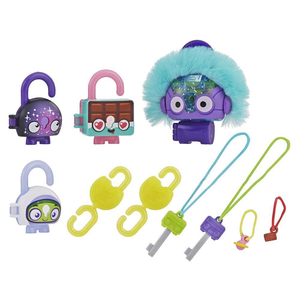 Lock Stars - Figurine de cadenas de luxe avec accessoires, Engin spacial, Série 3 (Les combinaisons peuvent varier.)