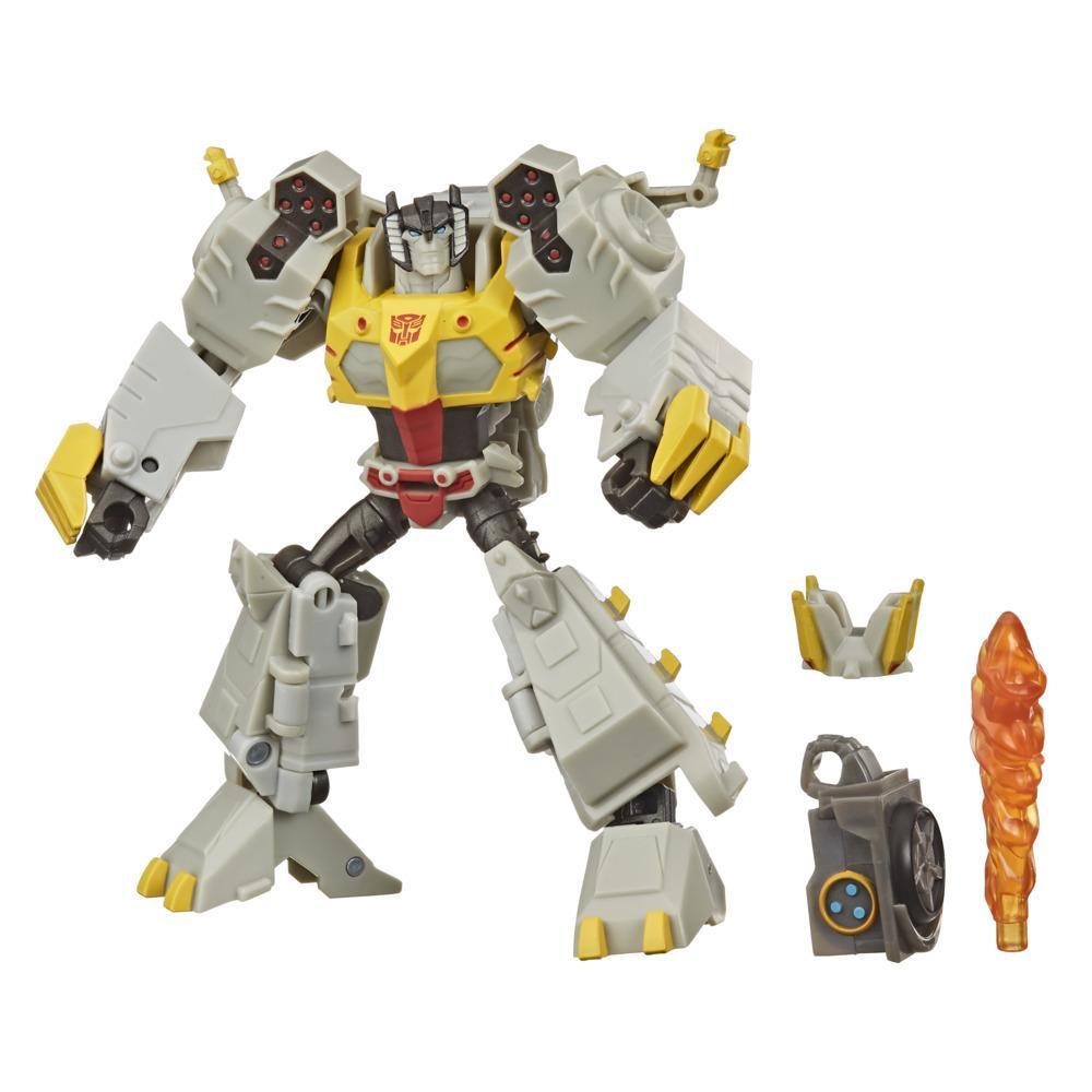 Transformers Bumblebee Cyberverse Adventures - Figurine Grimlock Deluxe, pièce Build-a-Figure, à partir de 6 ans