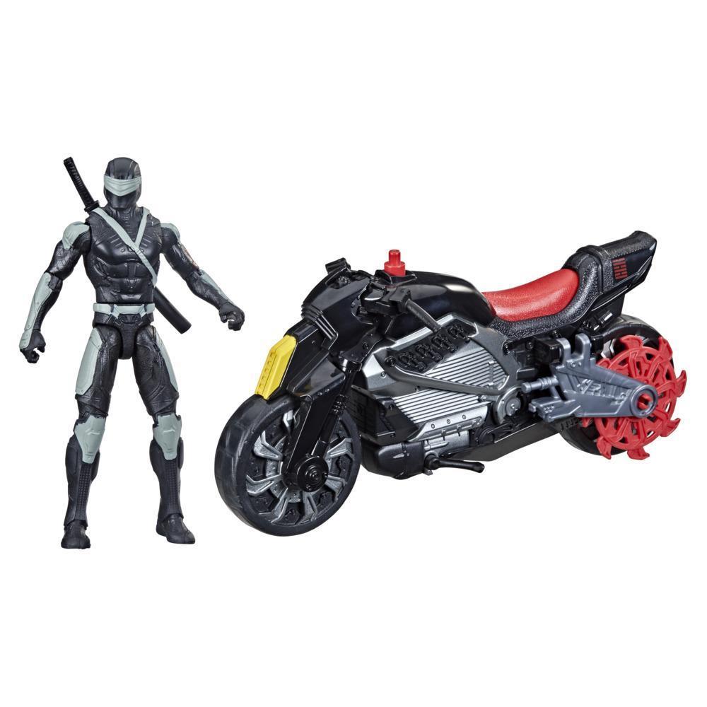 Snake Eyes: G.I. Joe Origins, figurine Snake Eyes avec moto furtive et attaque pirouette ninja, à partir de 4 ans
