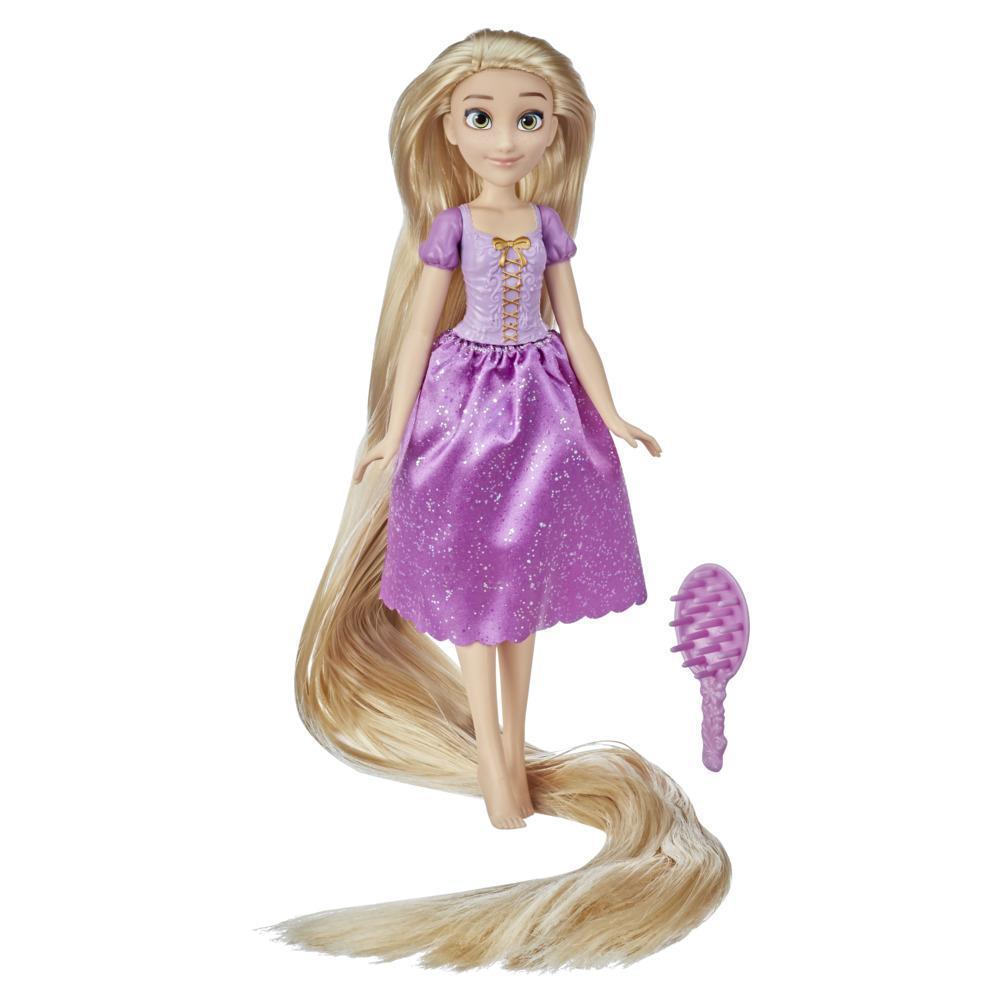 Disney Princess, poupée mannequin Raiponce longue chevelure avec cheveux de 45 cm, jouet pour filles à partir de 3ans