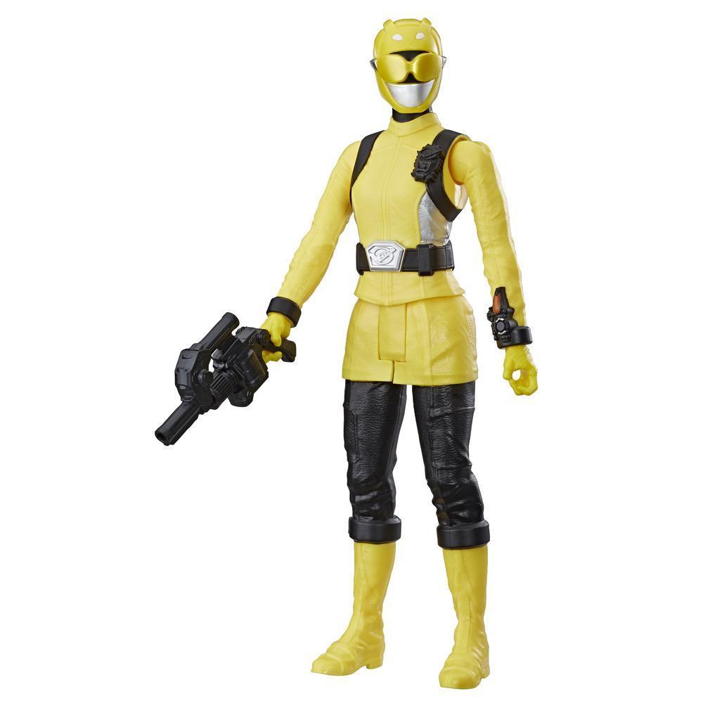 Power Rangers Beast Morphers - Figurine jouet de 30 cm Ranger jaune inspirée de la série télé Power Rangers