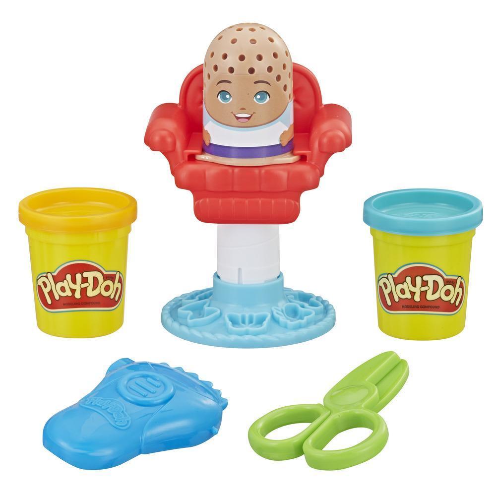 Play-Doh - Jeu de coiffure classique Minicoiffures en folie comprenant 2 couleurs de pâte atoxique