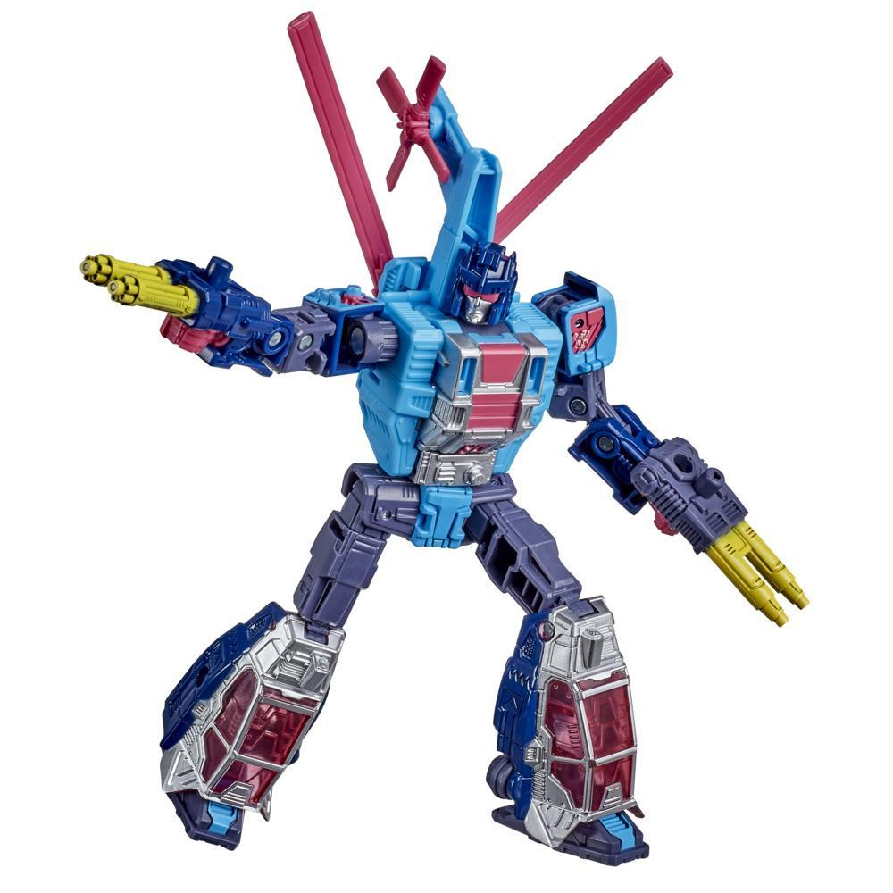 Transformers Generations Selects, WFC-GS19 Rotorstorm, figurine de collection War for Cybertron, classe Deluxe, 14 cm