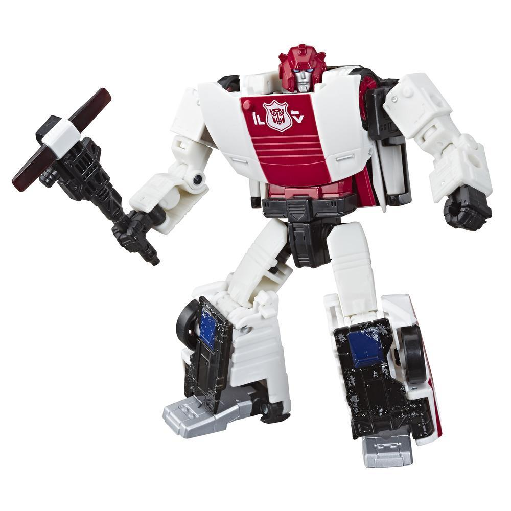 Jouets Transformers Generations War for Cybertron, figurine Weaponizer de luxe WFC-S35 Red Alert, gamme Siege, pour adultes et enfants de 8 ans et plus, 14 cm