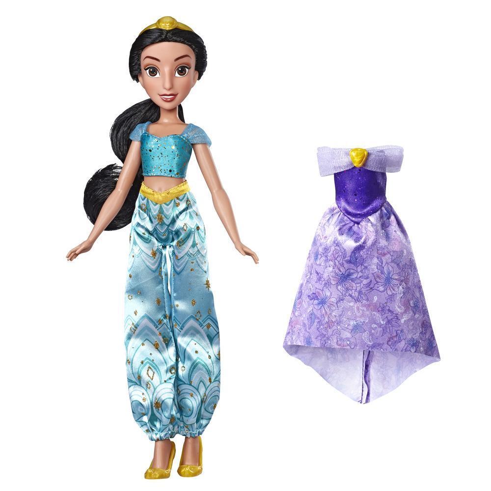 Disney Princess - Styles nocturnes envoutants, poupée Jasmine avec 2 tenues