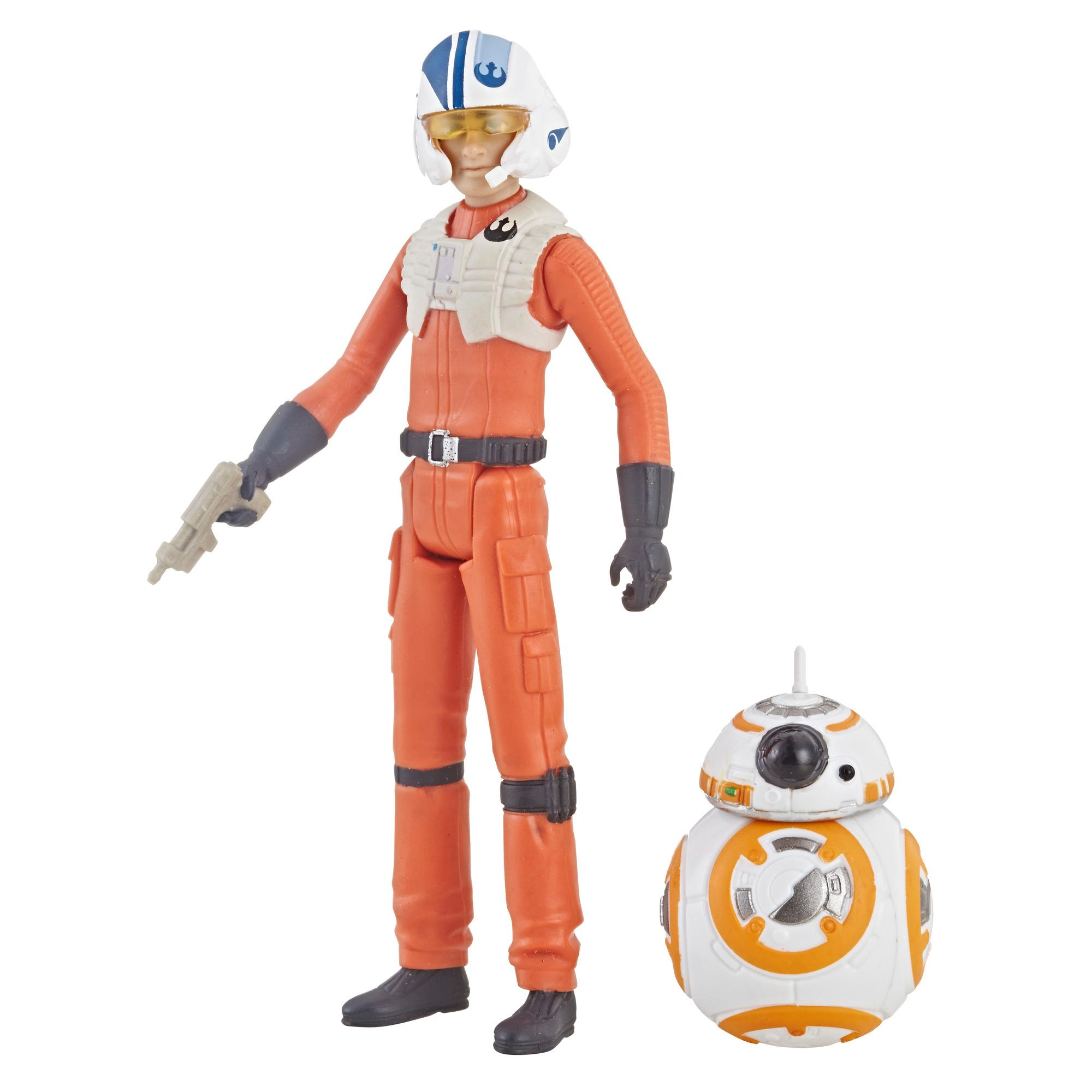 Star Wars Série animée Star Wars: Resistance - Duo de figurines Poe Dameron (9,5 cm) et BB-8