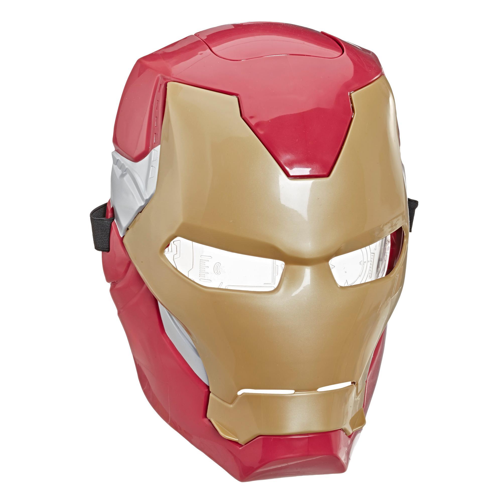 Marvel Avengers Masque à visière mobile d'Iron Man avec effets lumineux activés par la visière pour jeu costumé et jeu de rôle