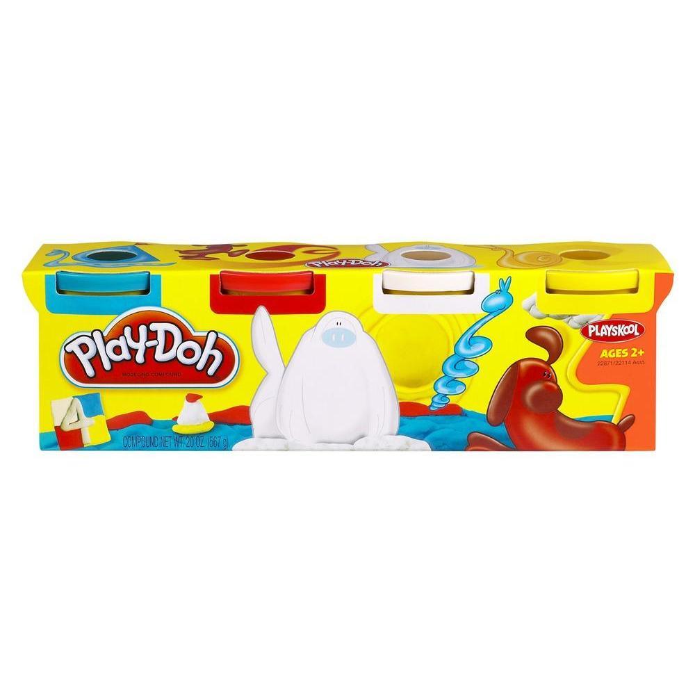 Assortiment de 4pots de couleurs classiques Play-Doh