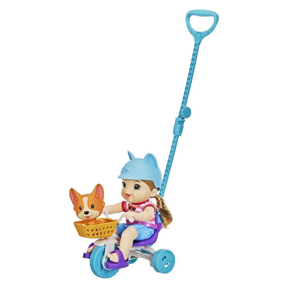 Littles de Baby Alive, Bébé et son tricycle, poupée et tricycle, 5 accessoires, jouet pour enfants, à partir de 3ans