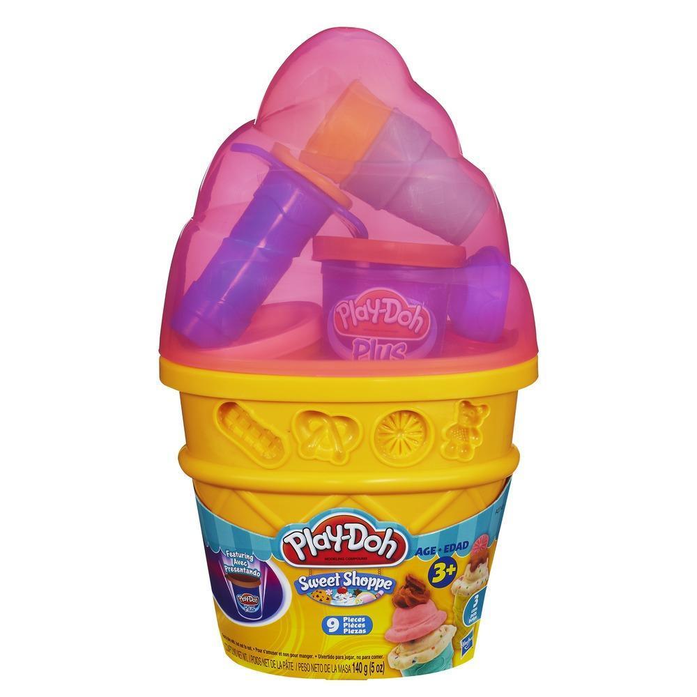 PLAY-DOH SWEET SHOPPE – Assortiment de contenants en forme de cornet à crème glacée