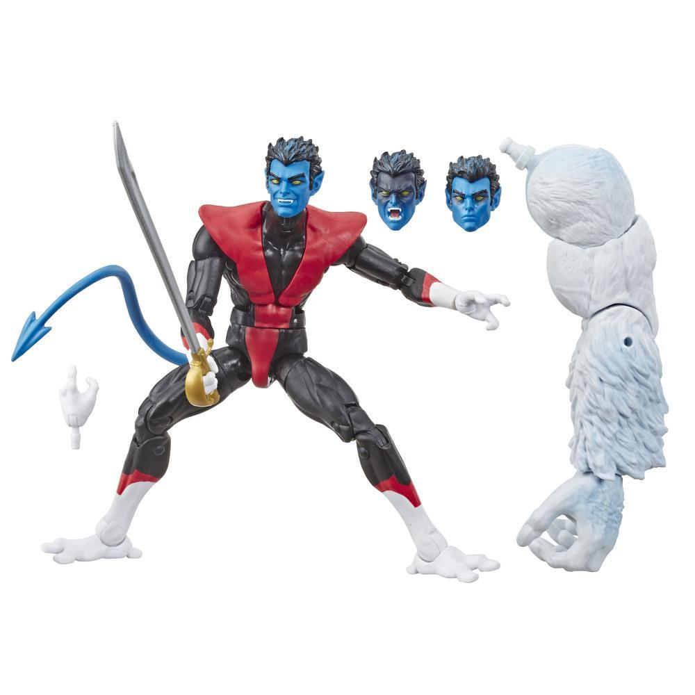 Série Marvel Legends de Hasbro, figurine articulée Nightcrawler de 15cm à collectionner (collection X-Men/X-Force) avec pièce Build-a-Figure de Wendigo
