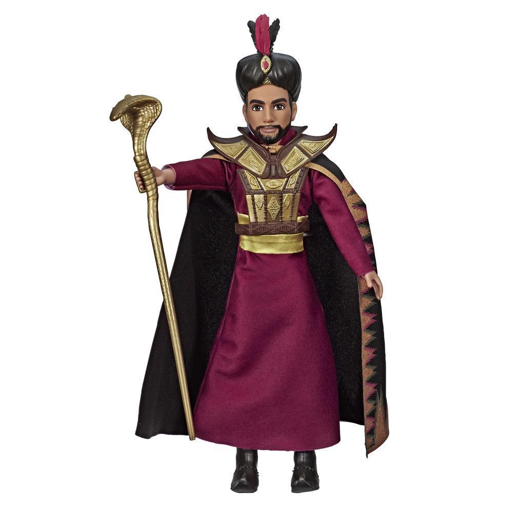 Disney Aladin - Poupée Jafar avec chaussures et accessoires inspirés du film Aladdin de Disney, jouet pour les enfants, à partir de 3 ans