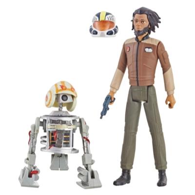 Star Wars Série animée Star Wars: Resistance - Duo de figurines Jarek Yeager de 9,5 cm et Bucket (R1-J5)