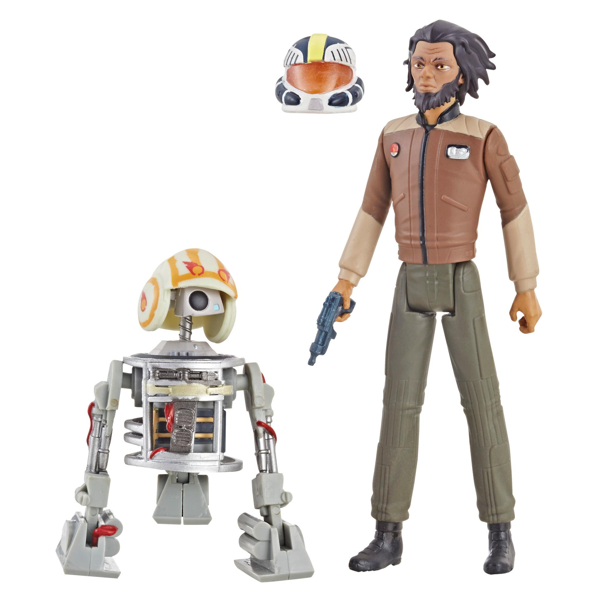 Star Wars Série animée Star Wars: Resistance - Duo de figurines Jarek Yeager de 9,5 cm et Bucket (R1-J5)