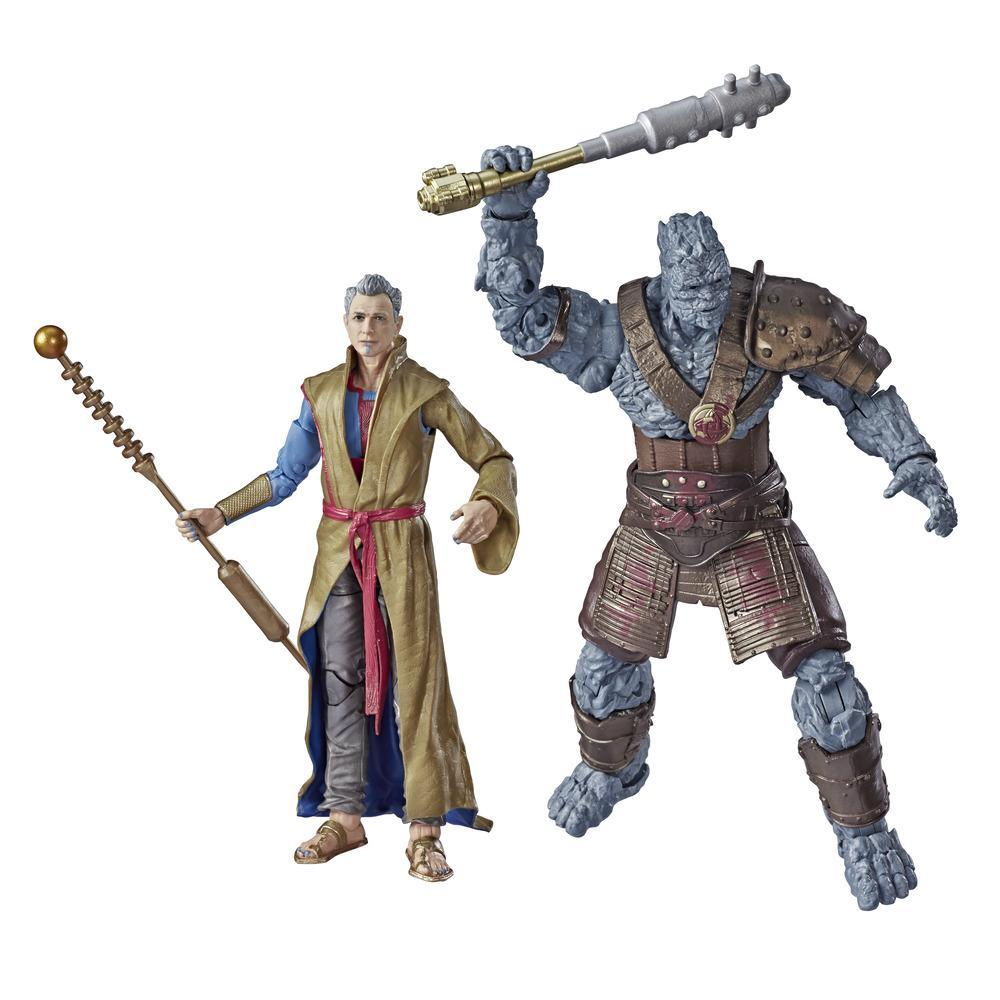 Marvel Legends Thor: Ragnarok - Pack de 2 figurines de collection de 15 cm Grandmaster et Korg