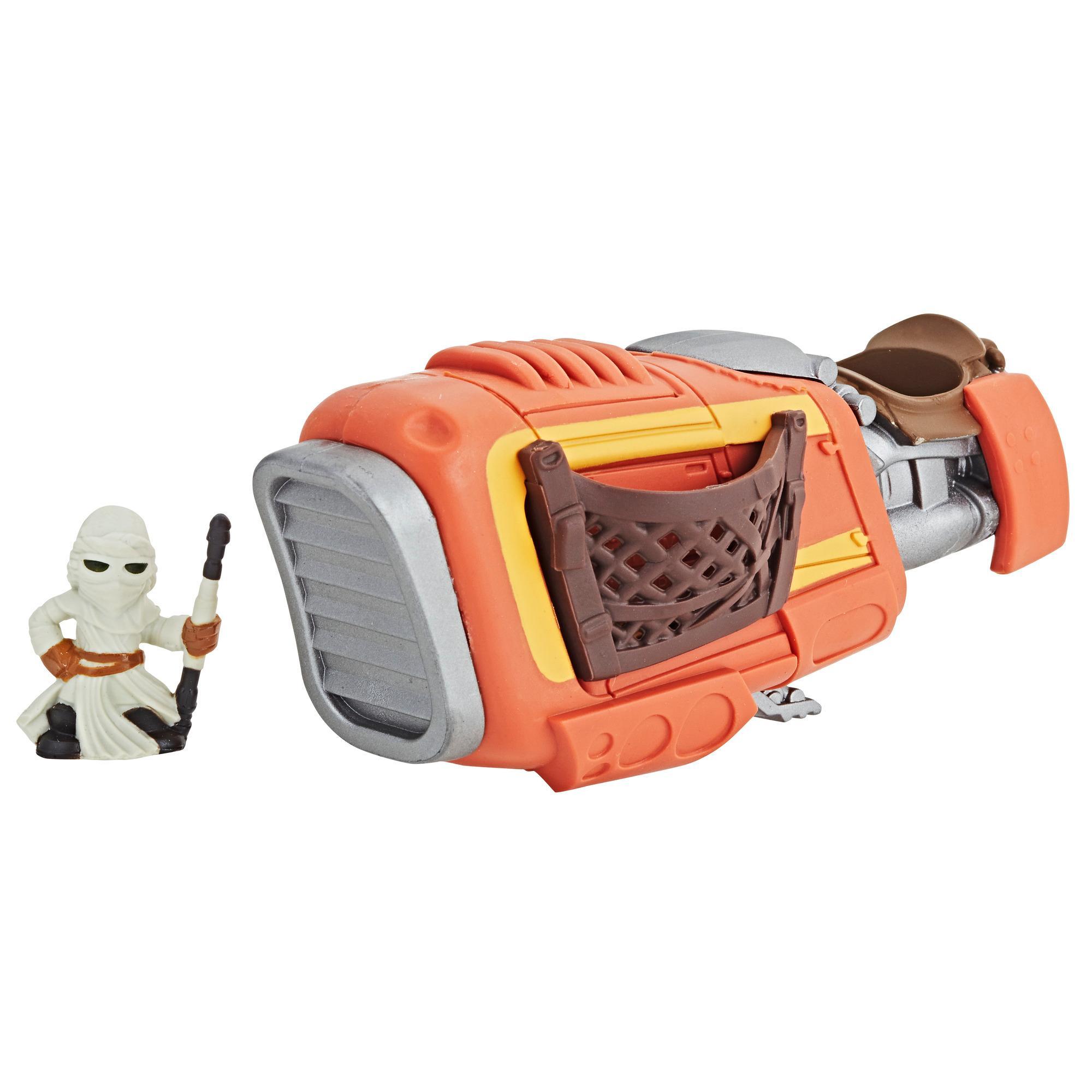 Star Wars Micro Force - Ensemble Speeder de Rey & Rey (Jakku)