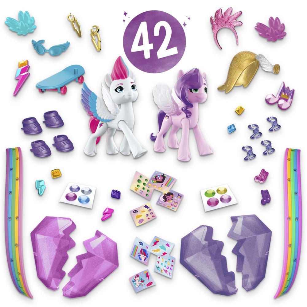 My Little Pony: A New Generation Aventure de cristal - 2 poneys et 40 accessoires surprises