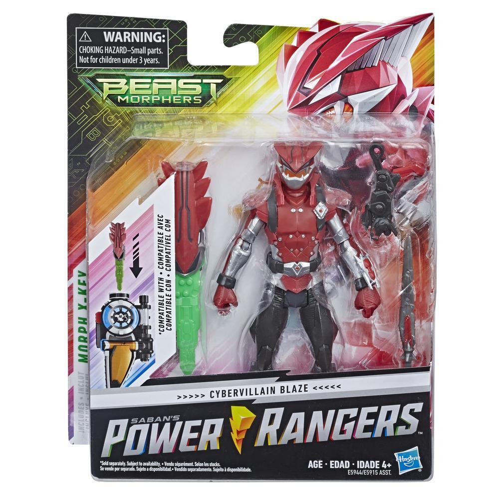 Power Rangers Beast Morphers - Figurine jouet de 15 cm Cybervillain Blaze