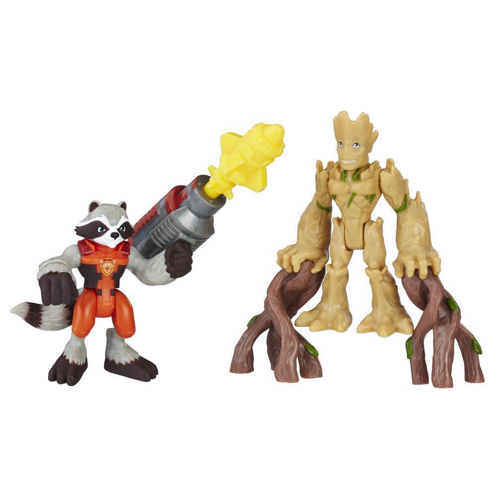 Playskool Heroes Marvel Super Hero Adventures - Groot et Rocket Raccoon