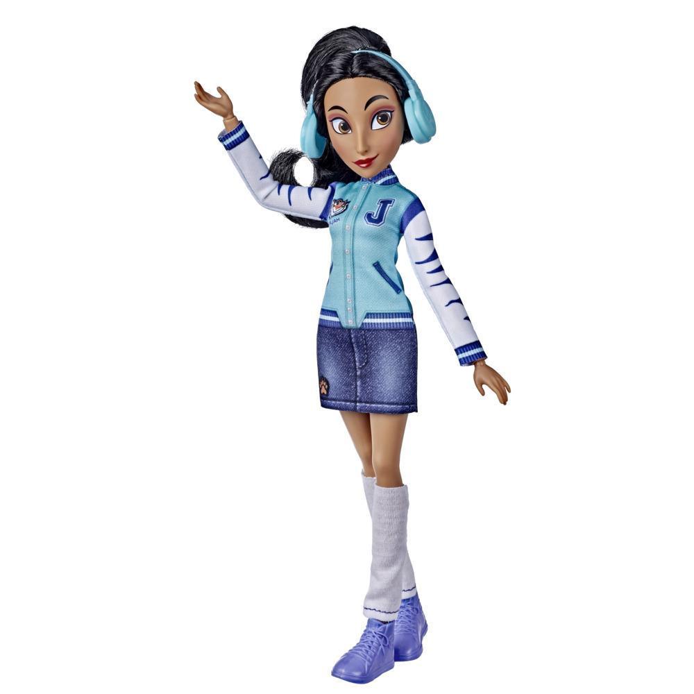 Disney Princesses Comfy Squad, poupée mannequin Jasmine en tenue décontractée inspirée du film Ralph brise l'Internet