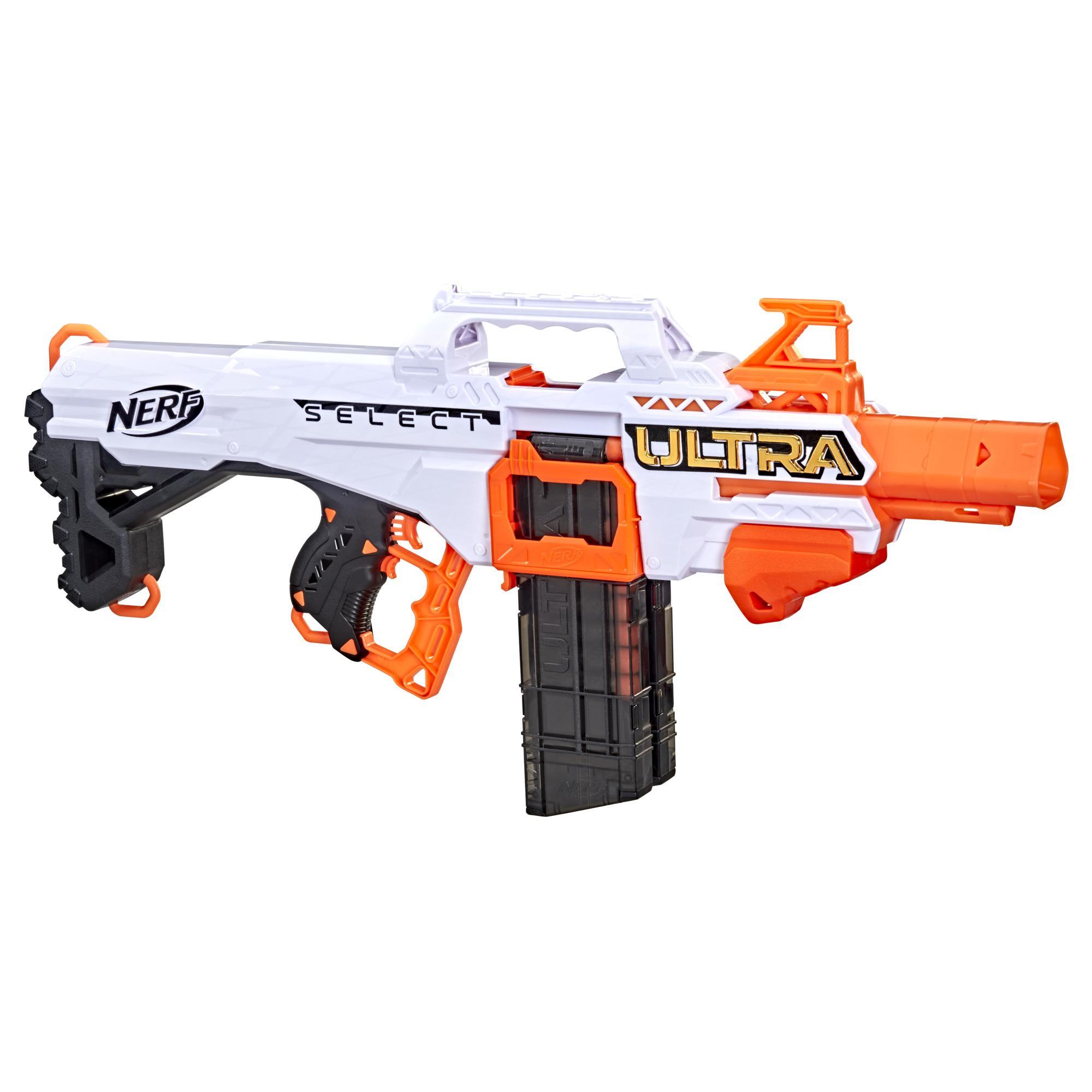Blaster motorisé Nerf Ultra Select, tire de 2 façons, inclut chargeurs et fléchettes, fléchettes Nerf Ultra seulement