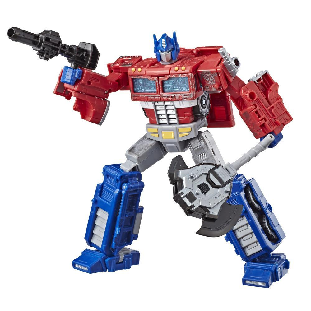 Transformers Generations War for Cybertron: Siege - Figurine Optimus Prime WFC-S11 de classe voyageur