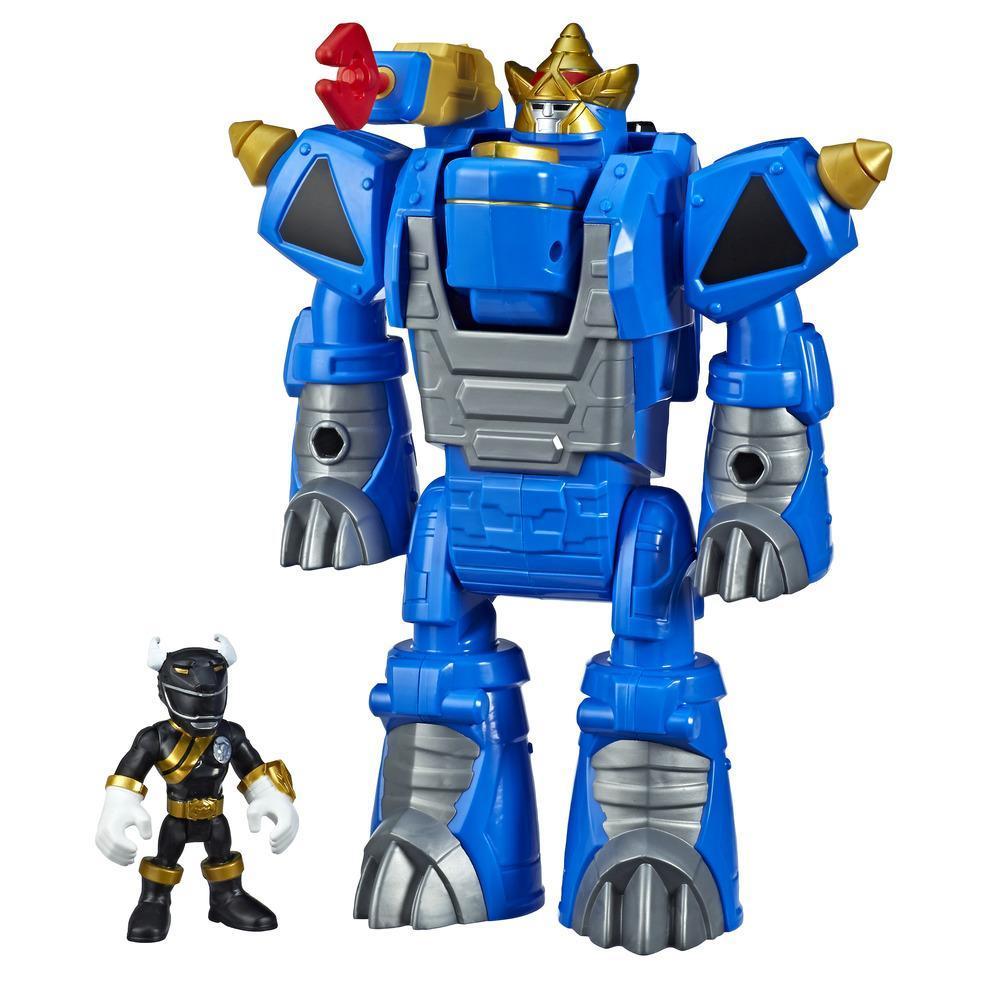 Playskool Heroes Power Rangers Zords convertibles - Figurines 7,5 cm de Ranger noir et de Rhino Zord