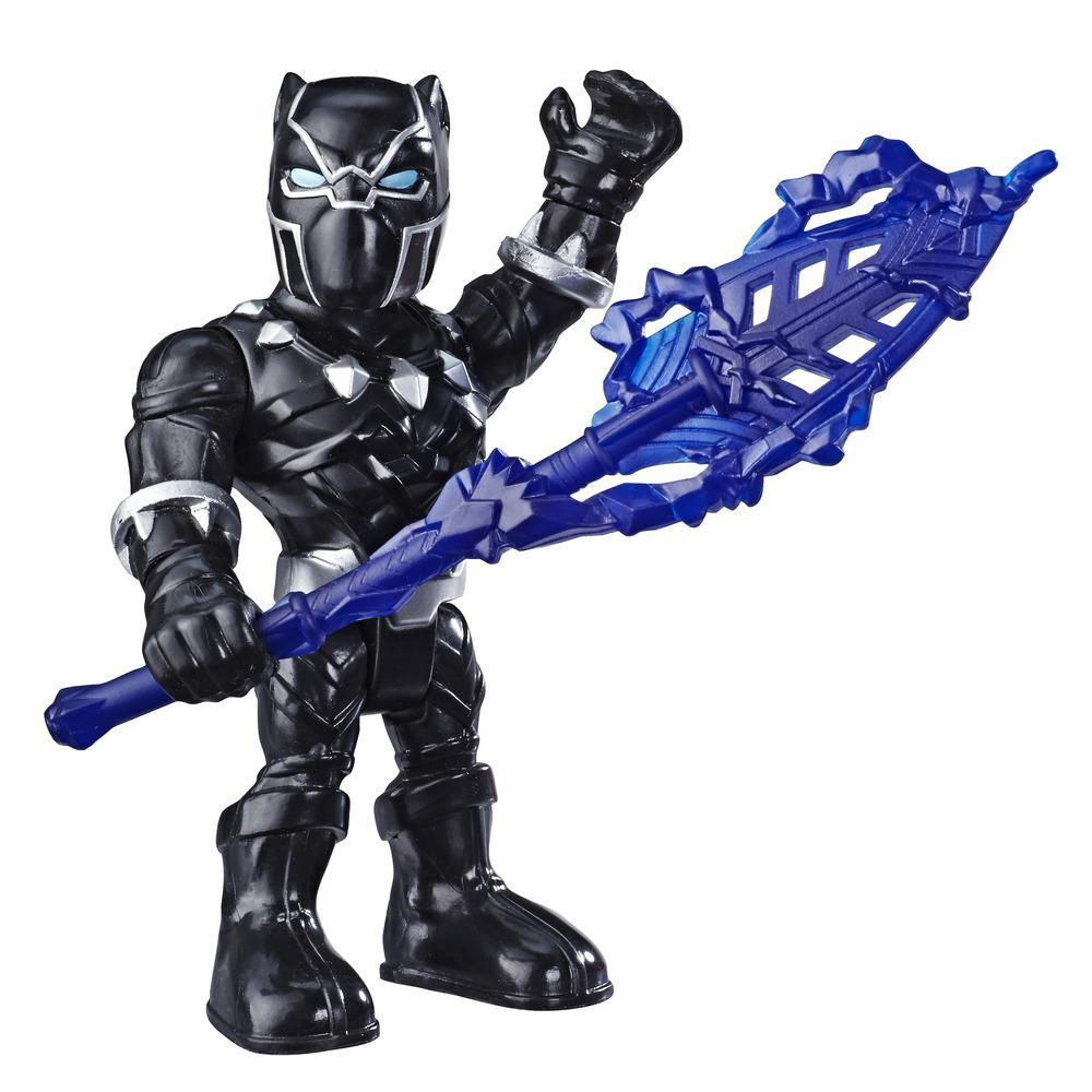 Playskool Heroes Marvel Super Hero Adventures Mega Mighties - Figurine Black Panther de 12,5 cm avec lance