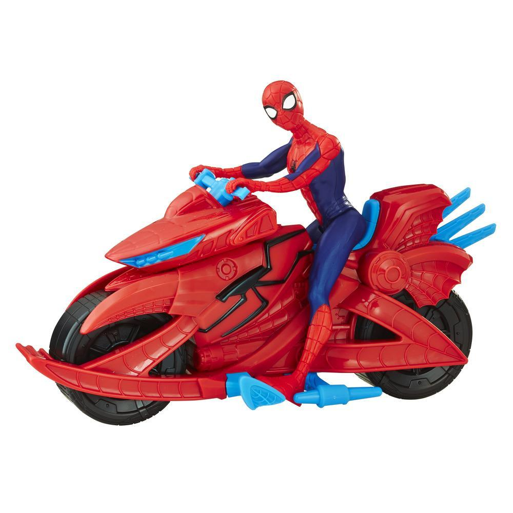 Marvel Spider-Man - Figurine avec moto