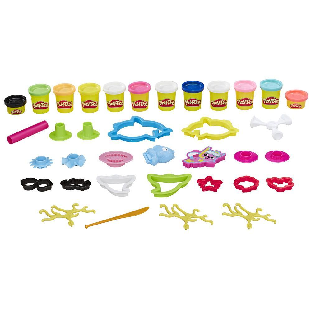 Play-Doh Pinkfong - Bébé requin, ensemble comprenant 12 pots Play-Doh de pâte atoxique