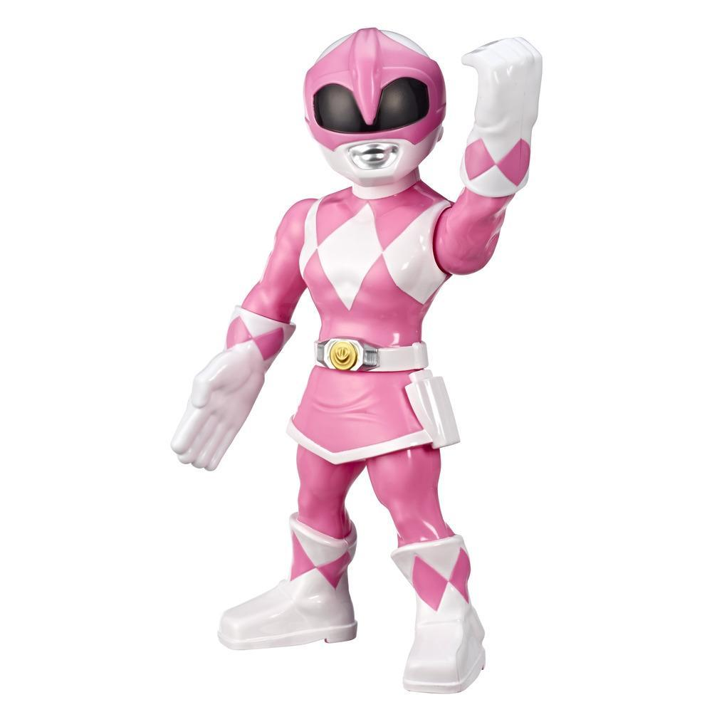 Playskool Heroes Mega Mighties Power Rangers, figurine Ranger rose de 25 cm, jouet de collection, pour enfants, à partir de 3 ans