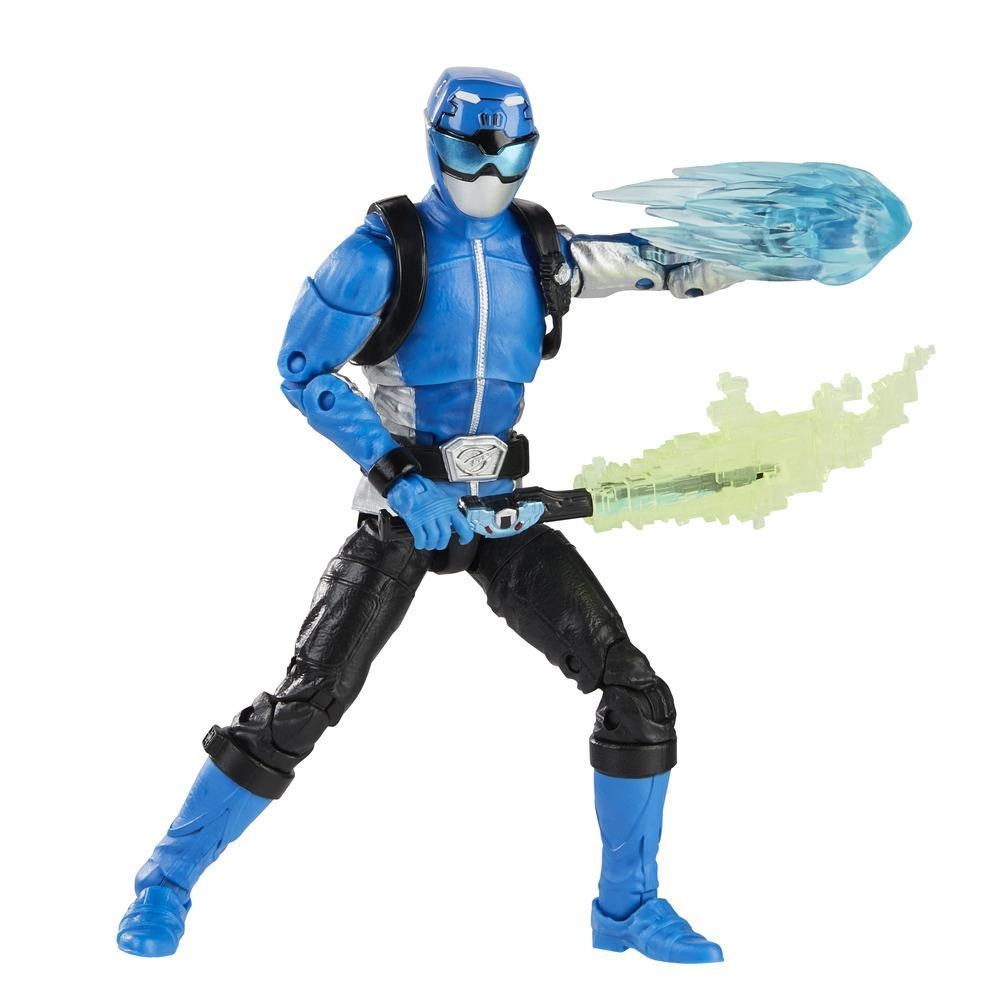Power Rangers Lightning Collection - Figurine articulée de collection Ranger bleu Beast Morphers de 15 cm avec accessoires