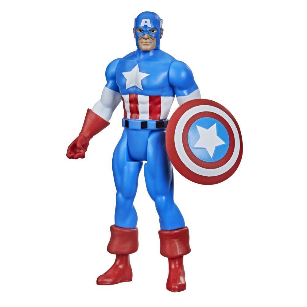 Hasbro Marvel Legends Series, figurine de collection retro Captain America de 9,5 cm