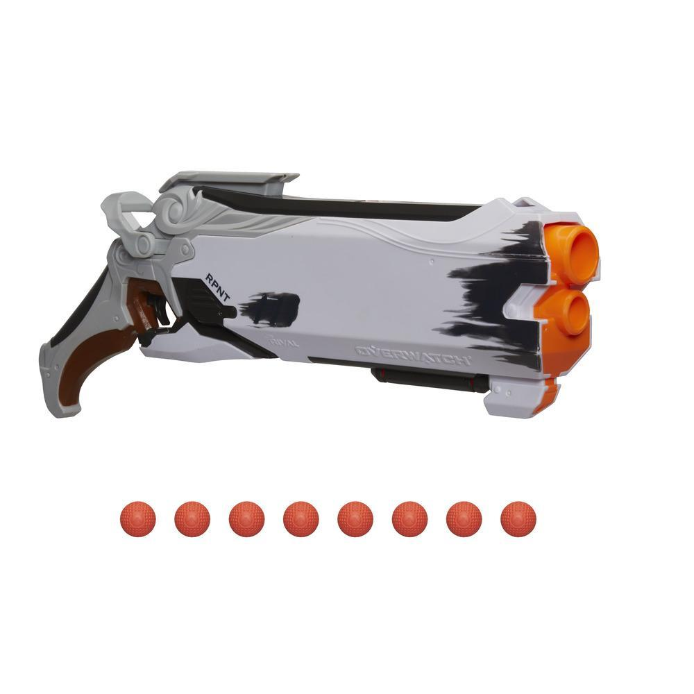 Foudroyeur Overwatch Faucheur (Édition Blanc linceul) Nerf Rival avec 8 balles Overwatch Nerf Rival