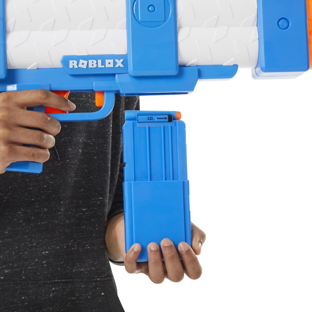Nerf Roblox Arsenal, blaster motorisé Pulse Laser, 10fléchettes Nerf, chargeur et code pour article virtuel dans le jeu
